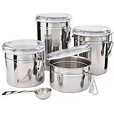 kitchen counter canisters amazon com kitchen canisters stainless steel beautiful canister