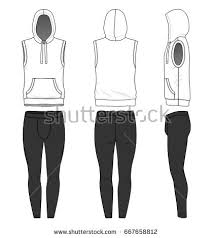 vector templates clothing set front back stock vector 663139942
