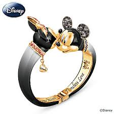 disney timeless love mickey mouse minnie mouse bangle bracelet
