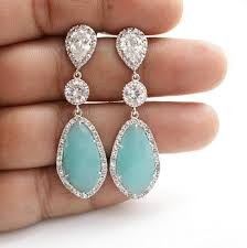 turquoise bridal earrings i like these for a more formal occasion i really cool colors