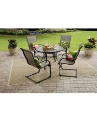 Mainstays Patio Furniture by Summer Sale Mainstays Bristol Springs 5 Piece Dining Set Grey