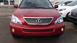 lexus rx red pre owned red 2008 lexus rx 400h 4wd 4dr hybrid walk around review
