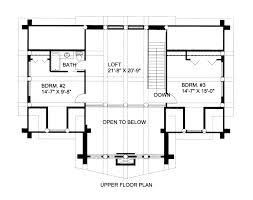 floor plans with loft 2700 sq ft log cabin home design with loft