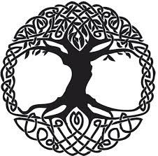 black celtic knot tree stencil journal inspirations