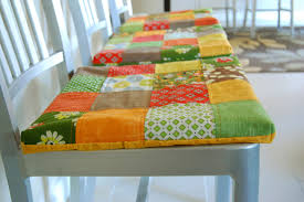 the brown needle non slip patchwork seat cushions a tutorial