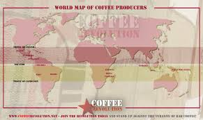Guatemala World Map by A World Map Of Coffee Producers In The Coffee Belt U2013 Ucollect