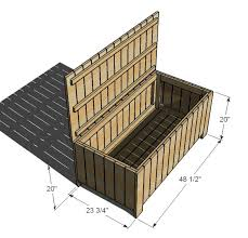 Outdoor Wood Bench With Storage Plans by Outdoor Storage Plans Outdoor Furniture Design And Ideas
