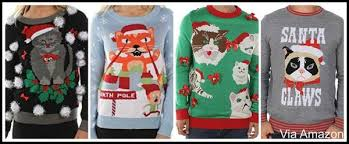 cat christmas cat themed christmas sweaters mens womens all sizes incl plus size