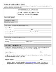 useful proof of employment form samples vlcpeque