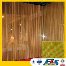 Fireplace Chain Screens - decorative architecture metal drapery rings chain link curtain