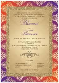 best indian wedding invitations wedding invitation orange purple gold damask faux gold glitter