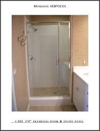Swing Shower Doors 1 4 Frameless Door Inline Panel Custom Manufactured Shower