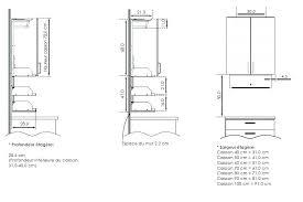 profondeur plan de travail cuisine hauteur plan de travail cuisine standard free superbe hauteur