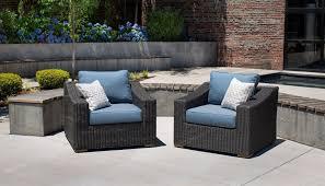 Wicker Lounge Chair New Boston Wicker Patio Lounge Chairs Denim Blue 2 Pack U2013 La Z