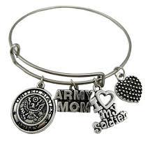 stainless steel bangle charm bracelet images Army mom stainless steel expandable bangle charm bracelet hero jpg