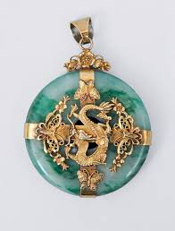 dragon jade necklace pendant images A big jade pendant with dragon mounting china c 1900 bi slice jpg