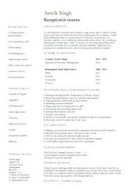 sample resume for receptionist position receptionist cover letter