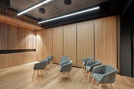 Timber Reception Desk Music To Your Senses Yamaha Music Hq Architecture U0026 Design
