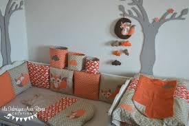 chambre bebe orange sur mesure décoration et linge de lit chambre bébé renard orange