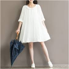 summer dresses top quality white linen sundress plus size linen summer dresses