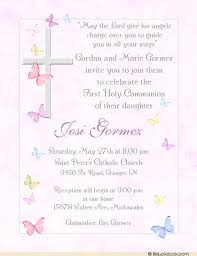communion invitations for girl catholic cross butterfly communion invitation girl s photo