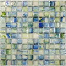 hirsch 1 u0027 u0027 x 1 u0027 u0027 green glass square tile glossy iridescent ji0142