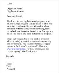 Rejection Letter Recruitment Agency 95 free application letter templates free premium templates