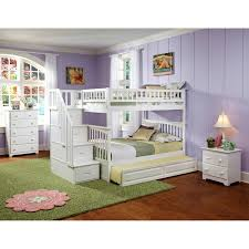 Columbia Full Over Full Bunk Bed by Atlantic Furniture Columbia Staircase Full Over Full Bunk Bed