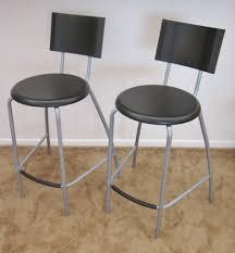 bar stools furniture kitchen bar stools black polished metal