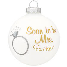 personalized soon to be mrs glass ornament bronner u0027s christmas