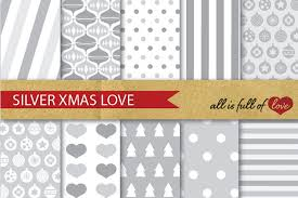 grey wrapping paper silver digital paper pack christma design bundles