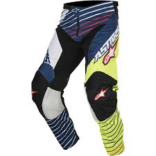 motorbike trousers racer braap 2017 pants yellow white blue trousers mx enduro