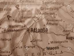 Map Of Atlanta Georgia by Map Of Atlanta Georgia In Sepia Stock Photo Picture And Royalty