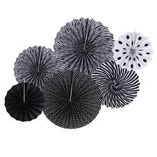 white paper fans paper fans hotpar black white paper fans decorations party fans