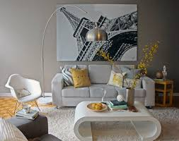 Eiffel Tower Decoration Ideas Yellow And Grey Living Room Eiffel Tower Paris Wall Decoration