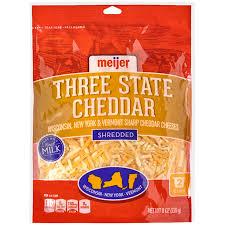 meijer shredded 3 state sharp cheddar cheese 8 oz meijer com