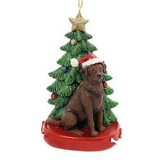 chocolate labrador ornaments mosaic