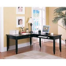 L Shaped Writing Desk Kathy Ireland Home By Martin Tribeca Loft Black L Shaped Writing