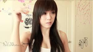 photo korean haircut for girls with side bangs versatile swept