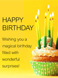 Sweet Birthday Cards Wishing You A Magical Birthday Happy Birthday Card A Simple And