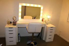 Bedroom Mirror Lights Dressing Table Mirror Light Oak Vanity With Lights For Bedroom