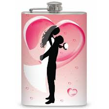 and groom flasks 8oz stainless stee l 8oz pink and groom flask