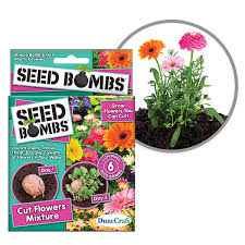 Flower Bomb Definition - seed bombs throw and grow plants thinkgeek