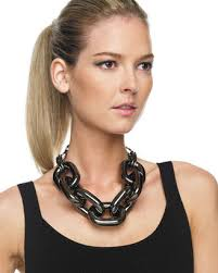 chain link necklace chunky images The look for less michael kors chain link necklace the budget jpg