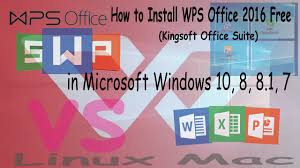 Free Spreadsheet For Windows 8 How To Install Wps Office 2016 Free Kingsoft Office Suite In