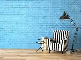 Wohnzimmer Mit Lampen Wohnzimmer Mit Einem Sessel Lampe Und Bücher 3d Rendering
