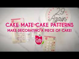cake mate cake patterns make decorating easy youtube