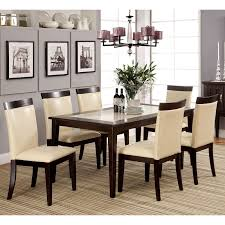 marble dining room sets mainstays 5 faux marble top dining set walmart com