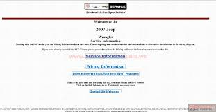 jeep wrangler jk 2007 factory service manual auto repair manual
