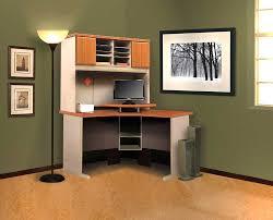 minimalist office corner home desk design with curved corner